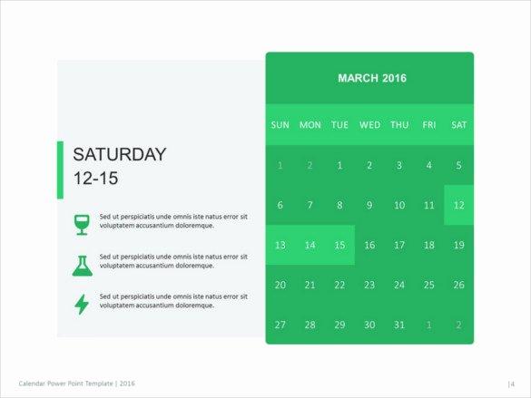 Powerpoint 2016 Calendar Template Inspirational 10 Powerpoint Calendar Templates – Free Sample Example