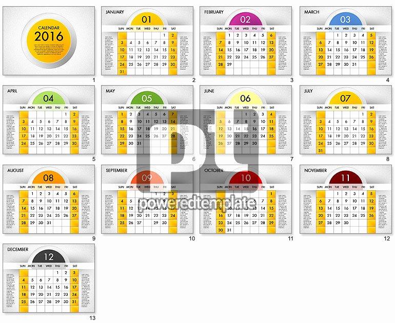 Powerpoint 2016 Calendar Template Inspirational 2016 Calendar for Powerpoint Presentations Download now