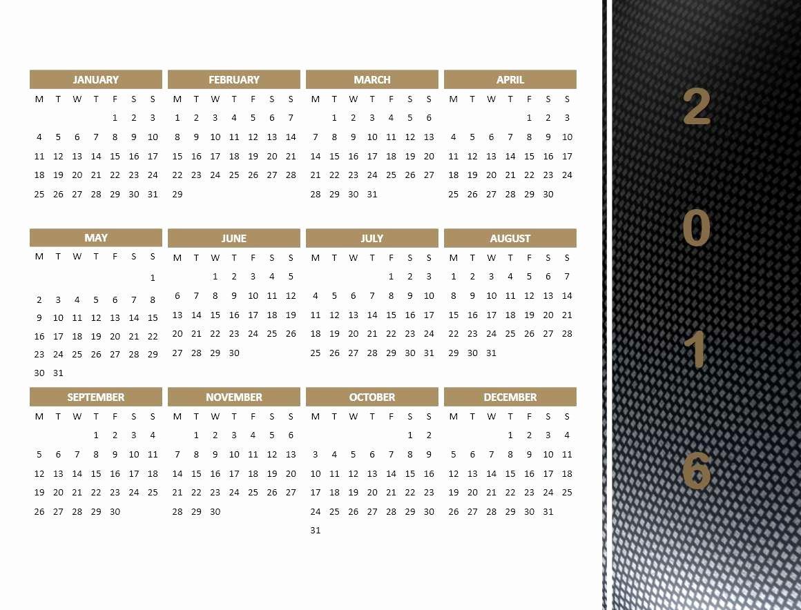 Powerpoint 2016 Calendar Template Inspirational 2016 Calendar Templates