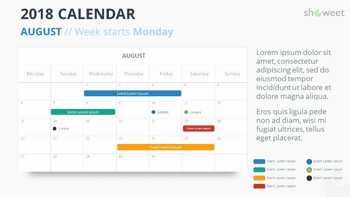 Powerpoint 2016 Calendar Template Inspirational 2018 Calendar Powerpoint Templates