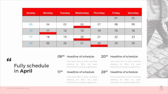 Powerpoint 2016 Calendar Template New 10 Powerpoint Calendar Templates – Free Sample Example