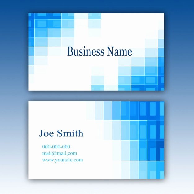 Powerpoint Business Card Template Beautiful Blue Business Card Template Psd File