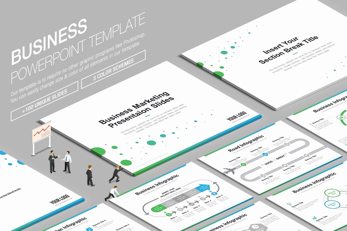 Powerpoint Business Card Template Beautiful Business Powerpoint Template Vol 4 Powerpoint Templates