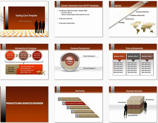 Powerpoint Business Cards Template Inspirational Powerpoint Gold Visiting Card Template