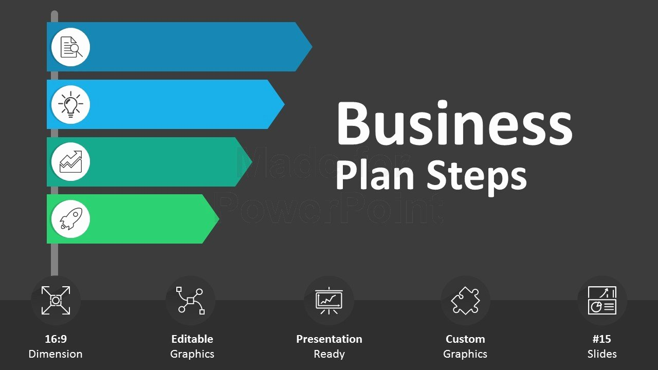 Powerpoint Business Plan Template Awesome Business Plan Steps Editable Powerpoint Slides