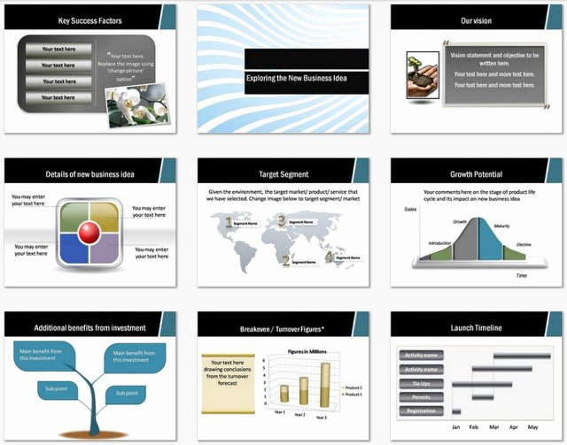 Powerpoint Business Plan Template Inspirational Powerpoint Business Plan Wave Design