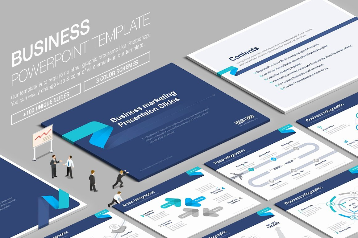 Powerpoint Business Plan Template Luxury Business Powerpoint Template Vol 6 Powerpoint Templates