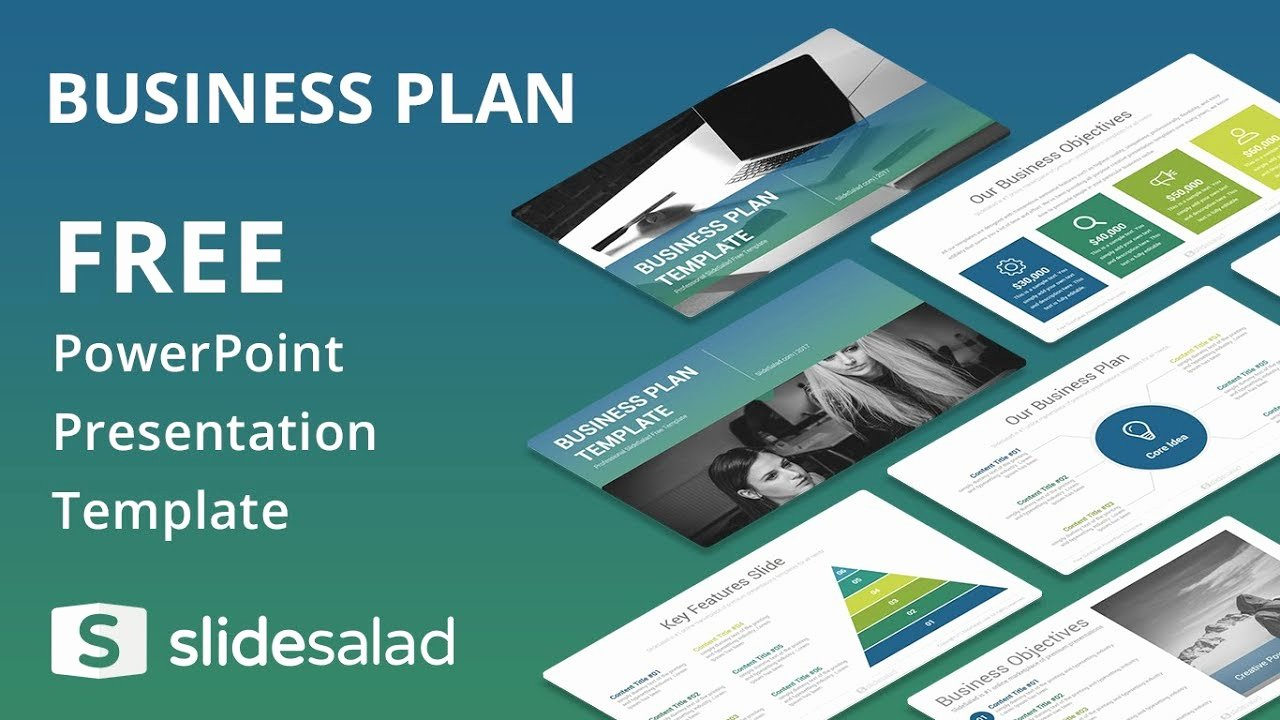 Powerpoint Business Plan Template New Business Plan Free Powerpoint Template Design Slidesalad