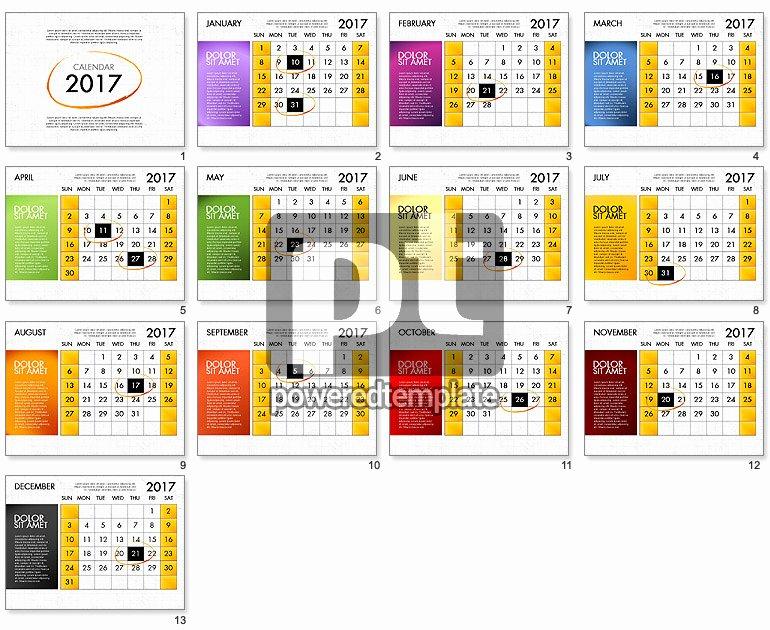 Powerpoint Calendar Template 2017 Awesome 2017 Calendar for Powerpoint Template for Powerpoint