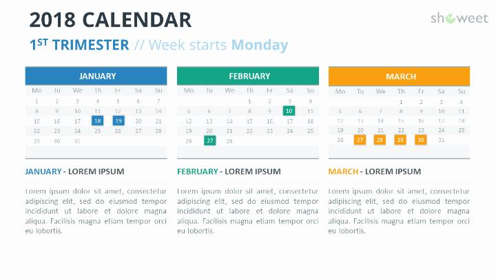 Powerpoint Calendar Template 2017 Best Of 2018 Calendar Powerpoint Templates