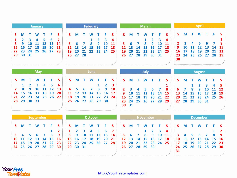 Powerpoint Calendar Template 2017 Best Of Immediately Free Printable Editable Calendar 2017