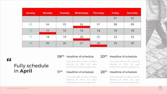Powerpoint Calendar Template 2017 Fresh Calendar Template for Powerpoint Invitation Template