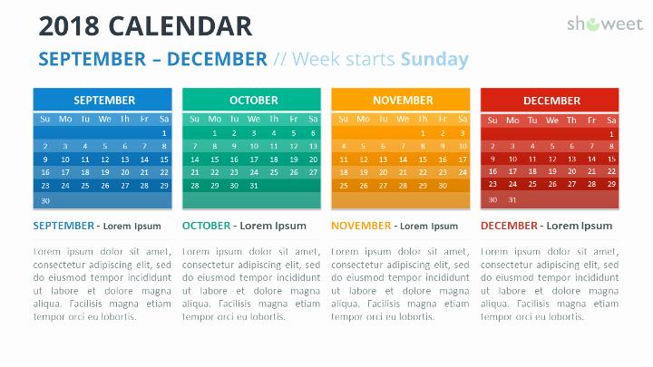 Powerpoint Calendar Template 2017 Inspirational 2018 Calendar Powerpoint Templates