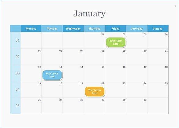 Powerpoint Calendar Template 2017 New 2018 Powerpoint Calendar Template Download