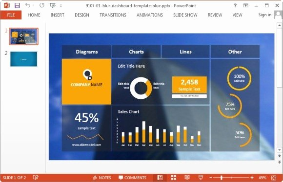 Powerpoint Dashboard Template Free Unique Best Project Management Powerpoint Templates