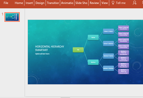Powerpoint Family Tree Template Fresh Horizontal Family Tree Chart Template for Powerpoint