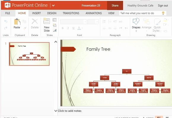 Powerpoint Family Tree Template Luxury Family Tree Chart Maker Template for Powerpoint Line