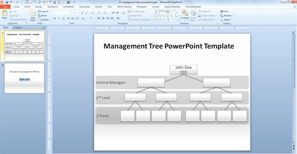 Powerpoint Family Tree Template Unique How to Make A Management Tree Template In Powerpoint From