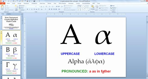 Powerpoint Flash Cards Template Lovely Greek Alphabet Powerpoint Presentation with Flash Cards