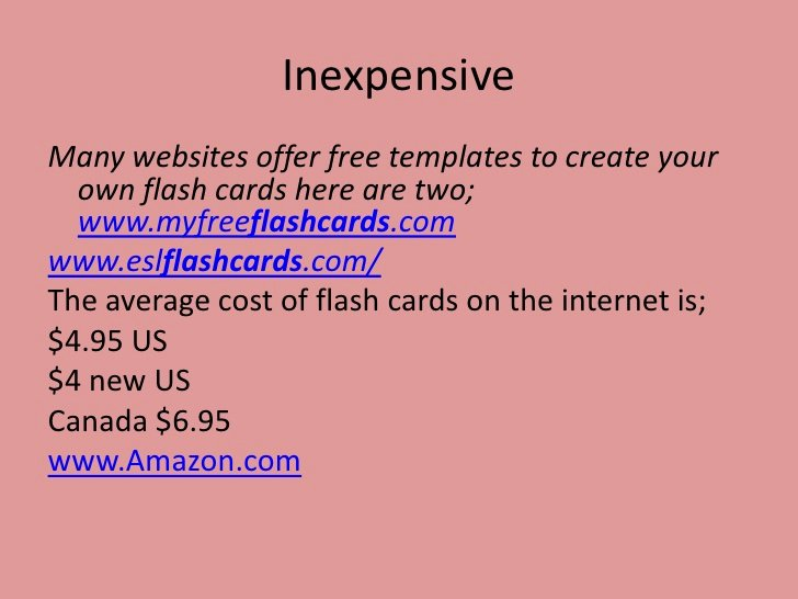 Powerpoint Flash Cards Template Unique Power Point Presentation On Flash Cards for Classroom