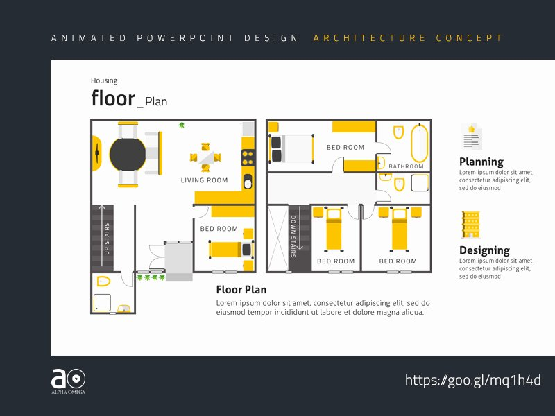 Powerpoint Floor Plan Template Elegant Arc Animated Presentation Template House Floor Plan by