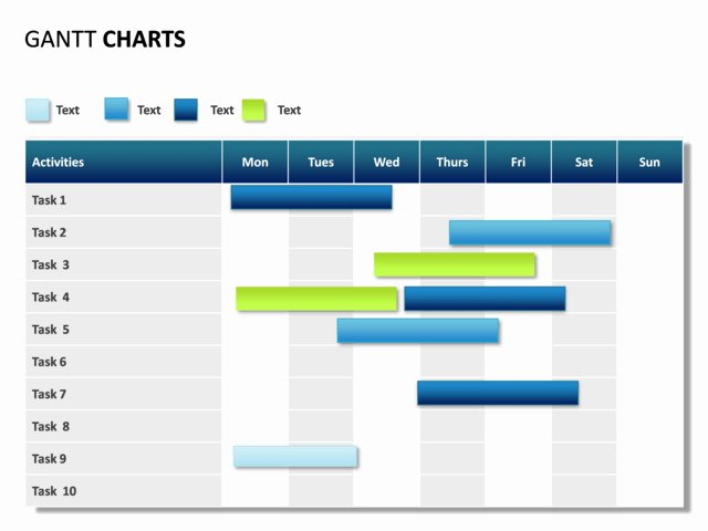 Powerpoint Gantt Chart Template Beautiful Powerpoint Slide Gantt Chart 7 Days 10 Tasks P31 2