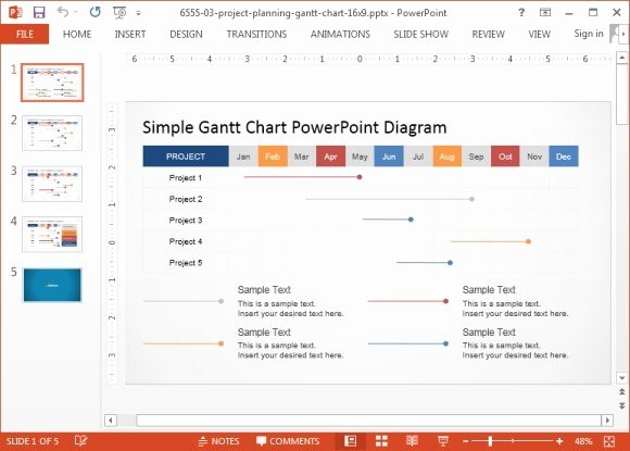 Powerpoint Gantt Chart Template Best Of Animated Gantt Chart Powerpoint Templates