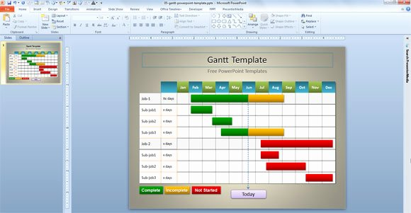 Powerpoint Gantt Chart Template Best Of Simple Gantt Template for Powerpoint