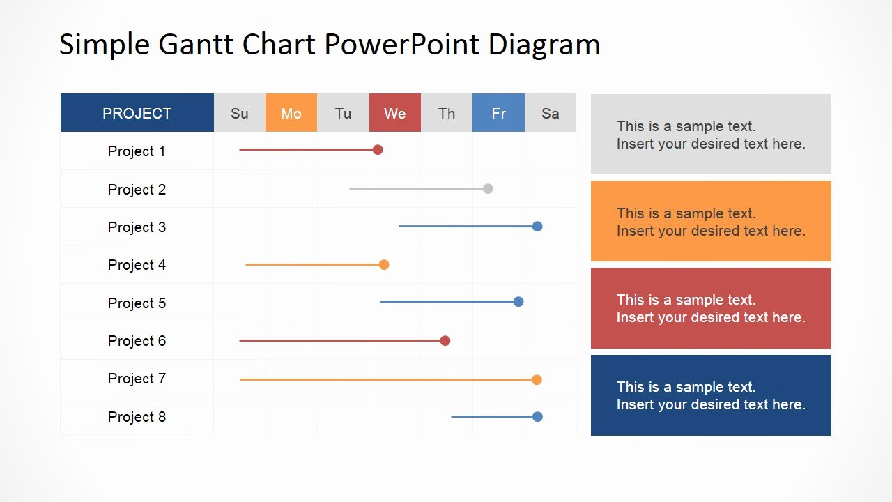 Powerpoint Gantt Chart Template Fresh Simple Gantt Chart Powerpoint Diagram Slidemodel