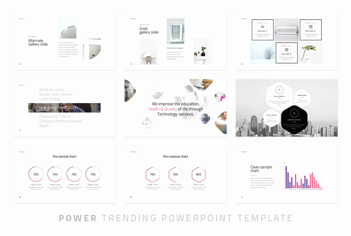 Powerpoint Photo Album Template Awesome Power Modern Powerpoint Template Just Free Slides
