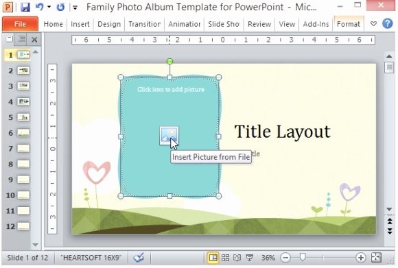 Powerpoint Photo Album Template Beautiful Family Album Template for Powerpoint