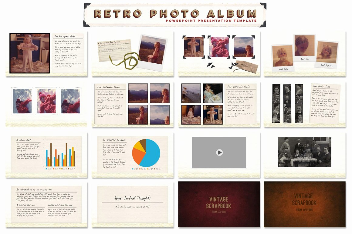 Powerpoint Photo Album Template Beautiful Retro Album Ppt Template Presentation Templates On