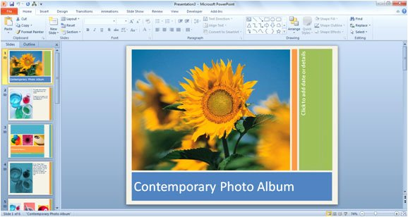 Powerpoint Photo Album Template Lovely How to Use Powerpoint 2010 Templates