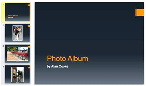 Powerpoint Photo Album Template Unique Three Great Features Of Powerpoint 2010 Presentation
