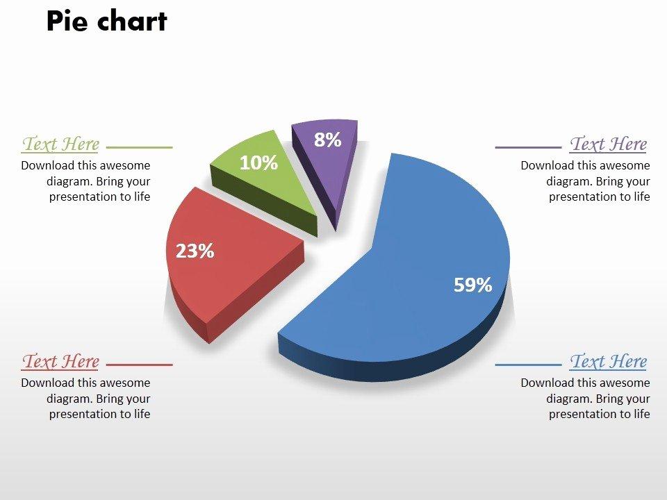 Powerpoint Pie Chart Template Elegant 0414 Business Parison Pie Chart Powerpoint Graph