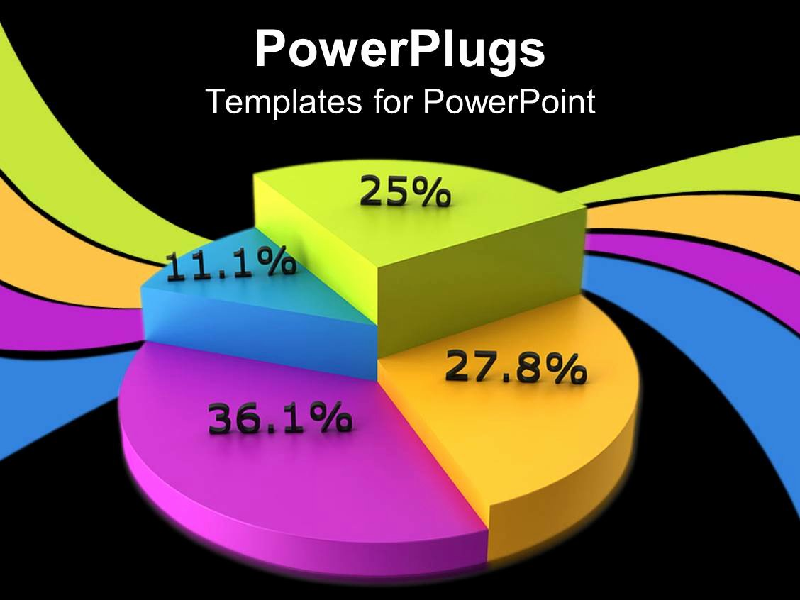 Powerpoint Pie Chart Template Fresh Powerpoint Template Colorful Pie Chart Displaying