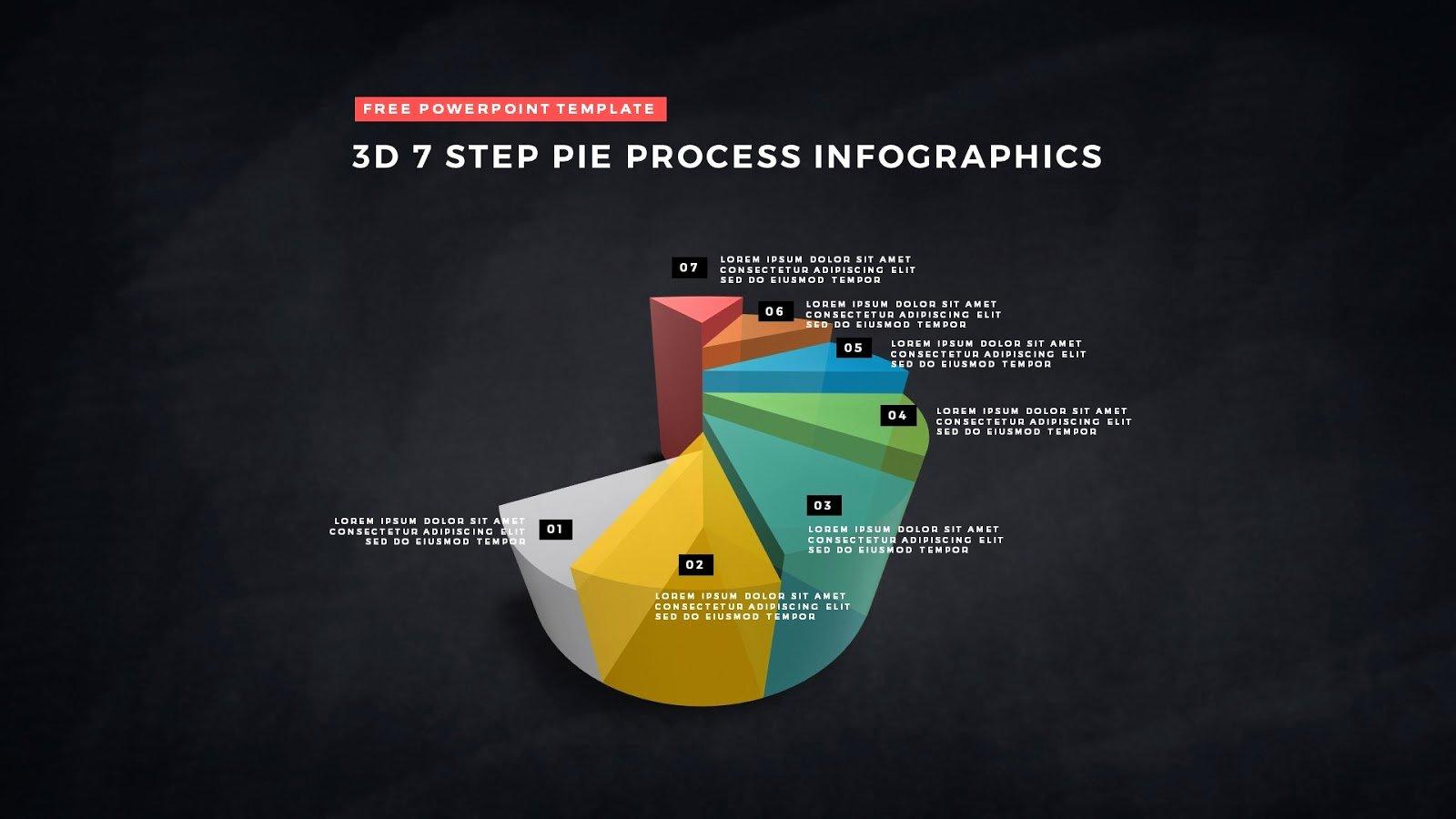 Powerpoint Pie Chart Template Inspirational 3d Pie Chart Design Elements for Powerpoint Templates