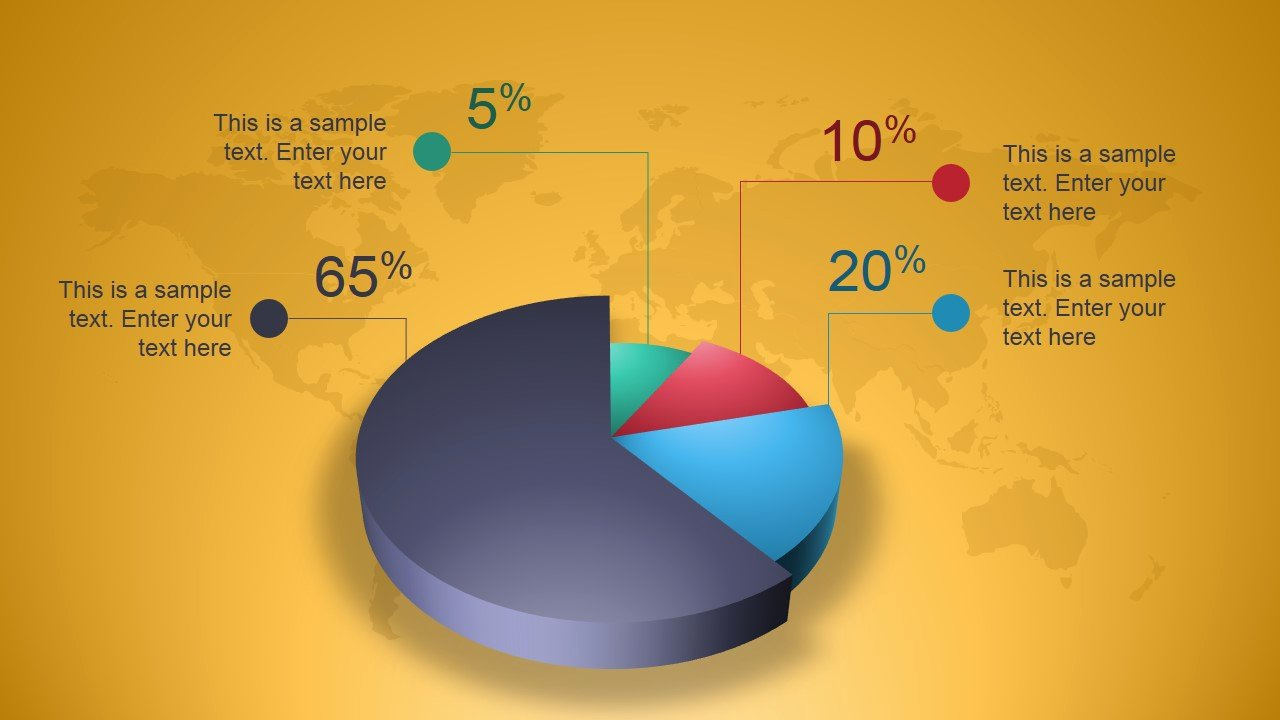 Powerpoint Pie Chart Template Lovely Creative 3d Perspective Pie Chart for Powerpoint Slidemodel