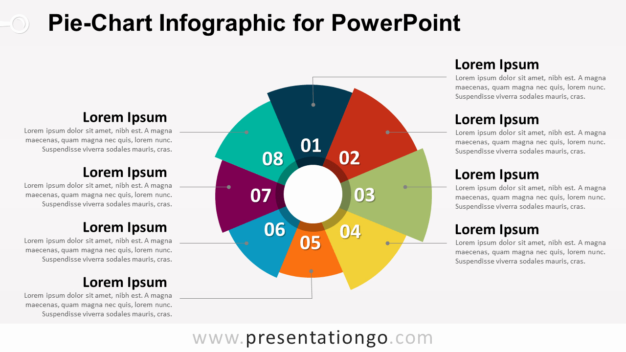 Powerpoint Pie Chart Template Unique Pie Chart Infographic for Powerpoint Presentationgo