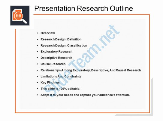 Powerpoint Presentation Outline Template Awesome Presentation Research Outline Powerpoint topics