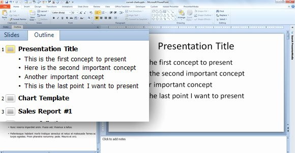 Powerpoint Presentation Outline Template Beautiful Quickly Create Slides From the Outline Pane In Powerpoint 2010
