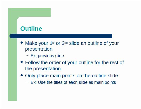 Powerpoint Presentation Outline Template Luxury Presentation Outline Template 24 Free Sample Example