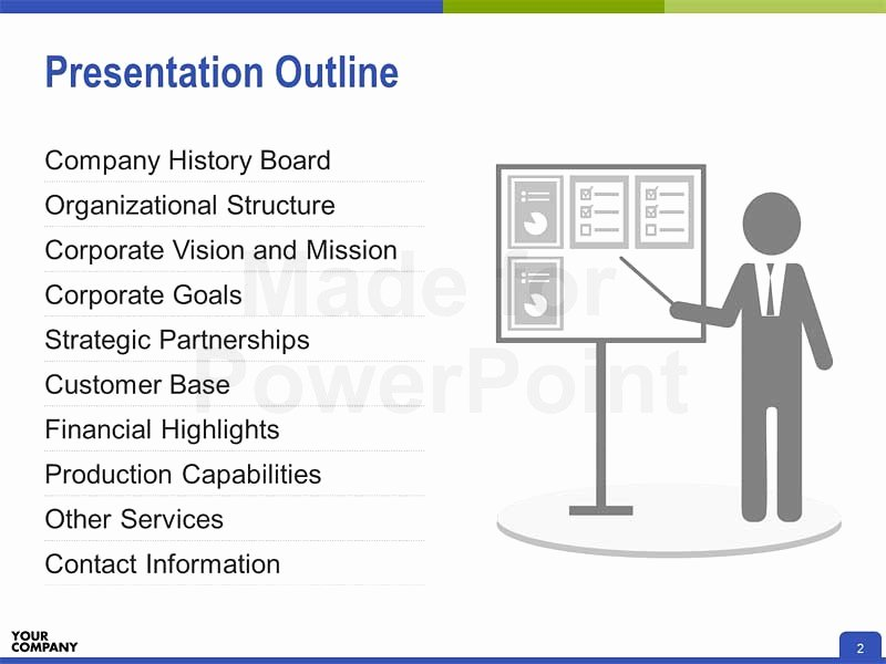 Powerpoint Presentation Outline Template New Pany Profile Ppt Editable Powerpoint Presentation