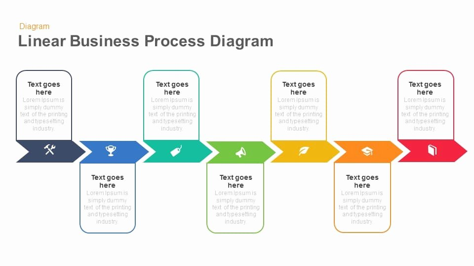 Powerpoint Process Flow Template Awesome Linear Business Process Diagrams Keynote and Powerpoint