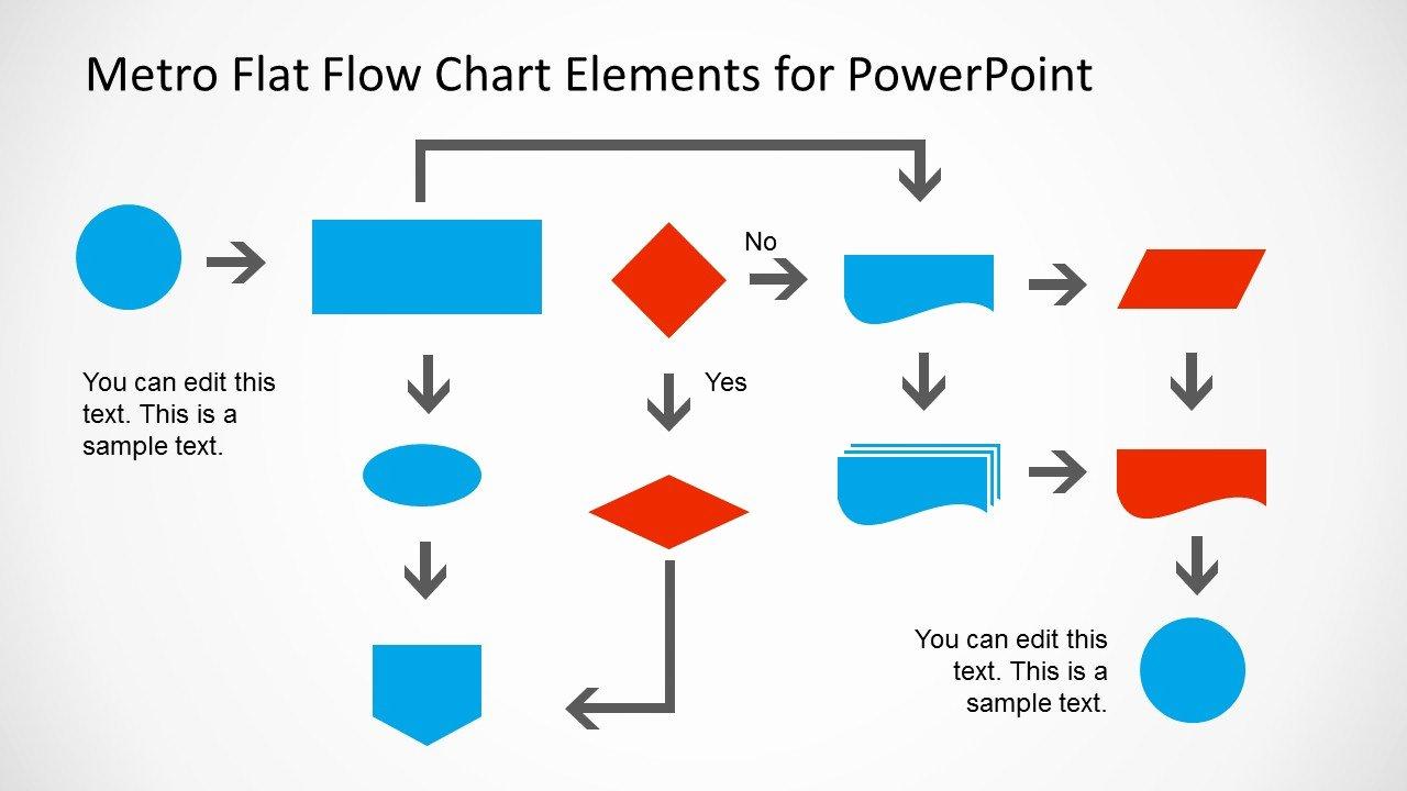 Powerpoint Process Flow Template Beautiful Metro Style Flow Chart Template for Powerpoint Slidemodel