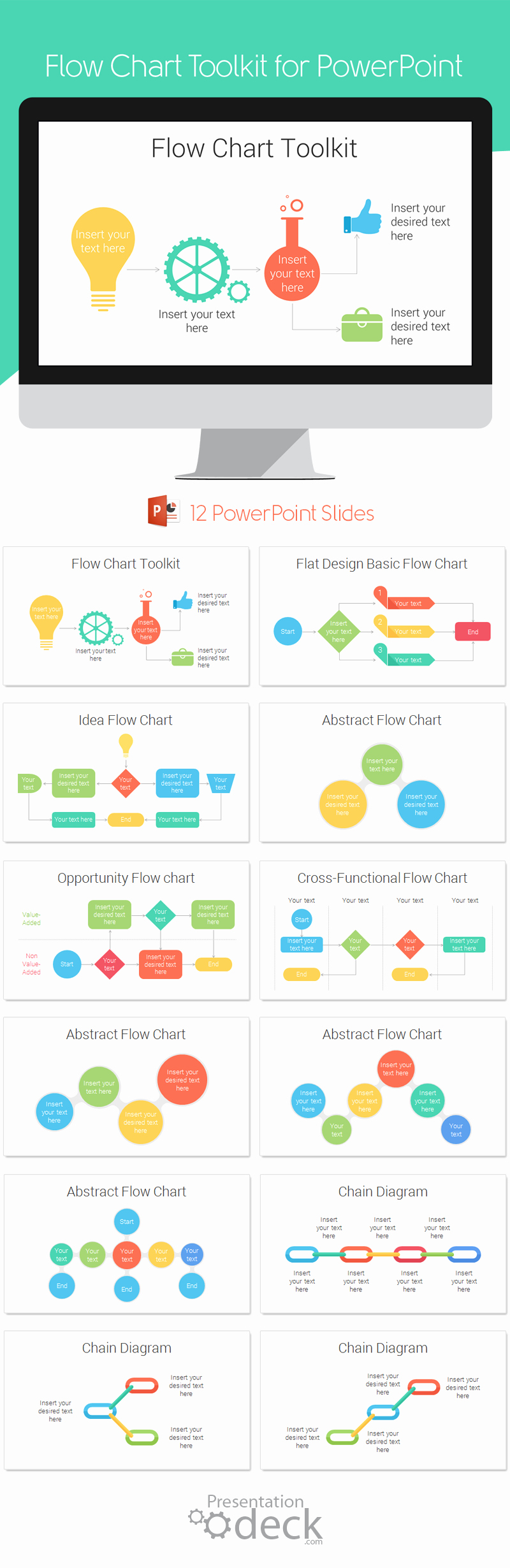 Powerpoint Process Flow Template Elegant Flow Chart toolkit for Powerpoint