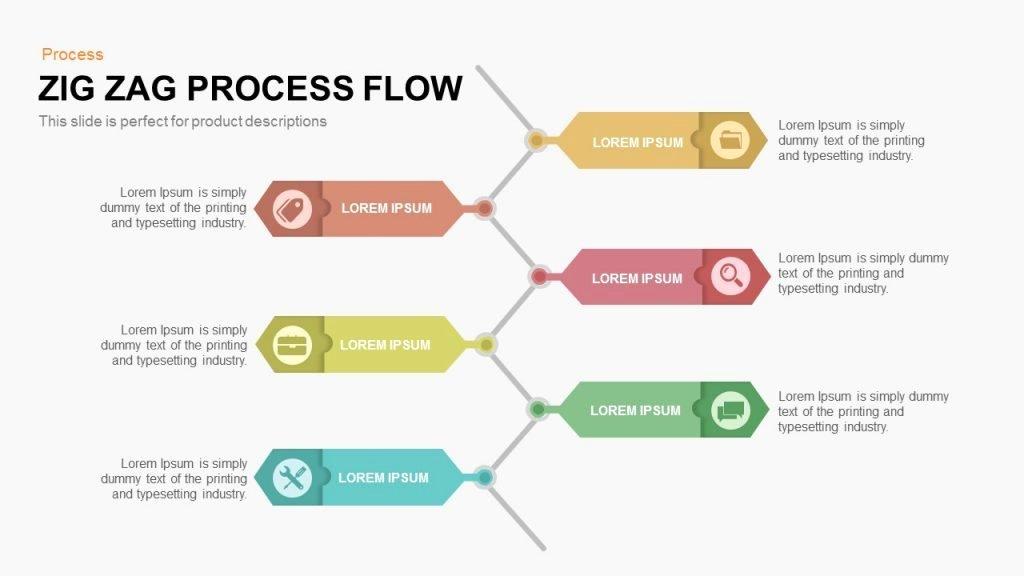 Powerpoint Process Flow Template Fresh Zig Zag Process Flow Powerpoint and Keynote Template