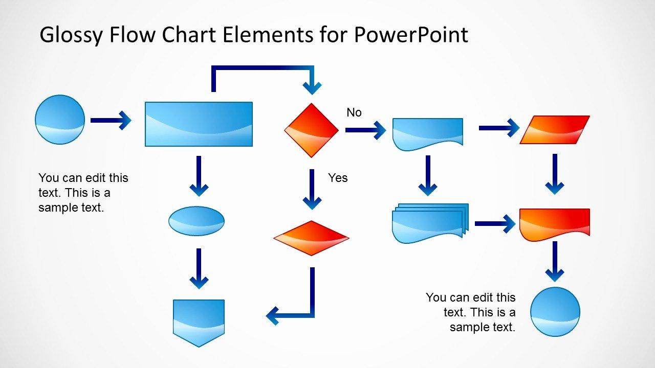 Powerpoint Process Flow Template Inspirational Glossy Flow Chart Template for Powerpoint Slidemodel