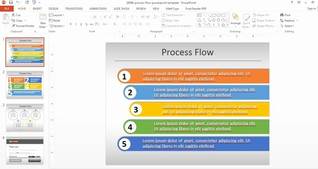 Powerpoint Process Flow Template Lovely Simple Process Flow Template for Powerpoint Flow Diagram