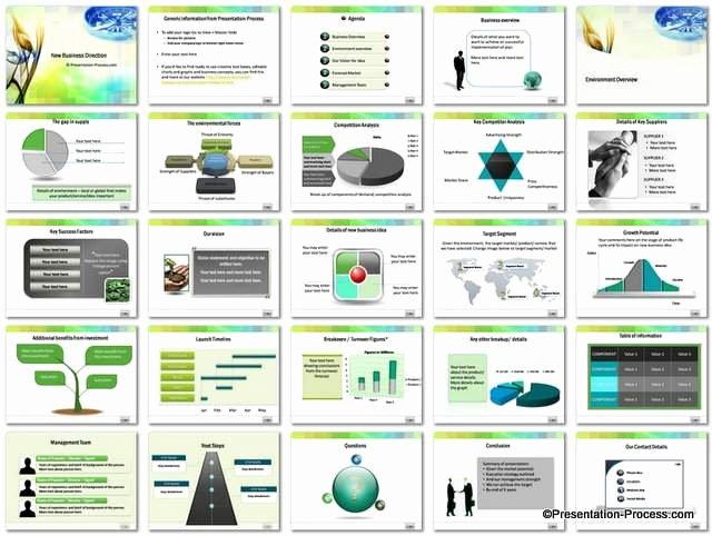 Ppt Business Plan Template Best Of Business Direction Powerpoint Template Set